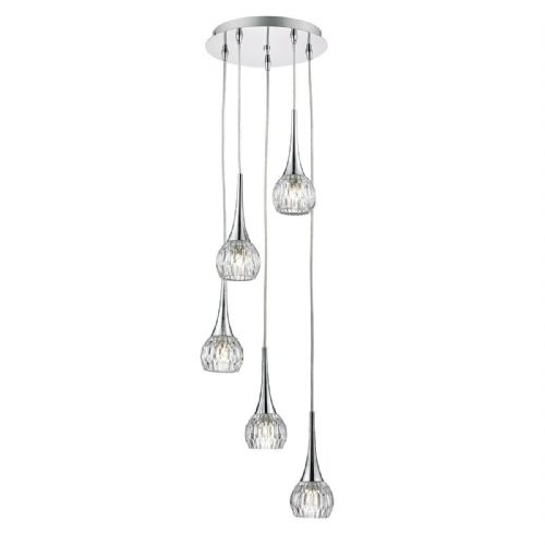 Lyall 5 Light Pendant Polished Chrome (Class 2 Double Insulated) BXLYA0550-17